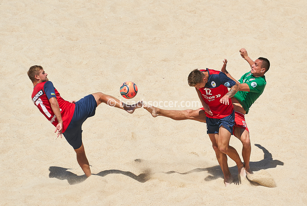 NAZARE, PORTUGAL - JULY 14: Euro Winners Cup at Estadio do Viveiro on July 14, 2021 in Nazare, Portugal. (Photo by Jose Manuel Alvarez / Beach Soccer)