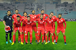 March 22, 2019 - Rades, Tunisia - Team of Tunisia during the Match Tunisia vs Eswatini at the Rades Olympic stadium in the last qualifying round of the 2019 African Nations Cup finals vs. Tun vs Eswatini 4/0. (Credit Image: © Chokri Mahjoub/ZUMA Wire)