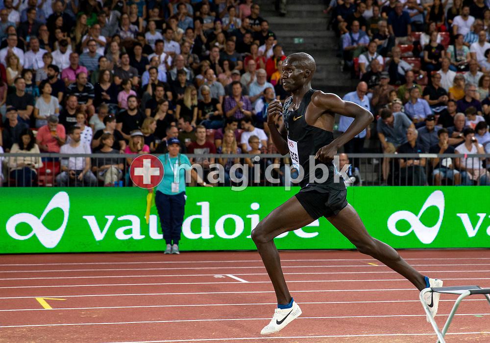 Joshua CHEPTEGEI of Uganda on his way winning in the Men's 5000m during the Iaaf Diamond League meeting (Weltklasse Zuerich) at the Letzigrund Stadium in Zurich, Switzerland, Thursday, Aug. 29, 2019. (Photo by Patrick B. Kraemer / MAGICPBK)