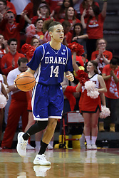21 February 2018:  Noah Thomas during a College mens basketball game between the Drake Bulldogs and Illinois State Redbirds in Redbird Arena, Normal IL
