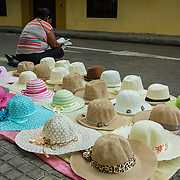 Lots og hats for sale in the Old City, Cartagena, Colombia.
