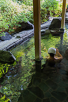 Sanyo-so Outdoor Onsen - Rotemburo, or outdoor hot spring -  relaxing at an open air hot spring called a rotemburo in Japan is a favorite - surrounding yourself in nature while soaking and relaxing - what could be more restful?