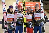 HOpp<br /> FIS World Cup<br /> Ruka / Kuusamo Finland<br /> November 2017<br /> Foto: Gepa/Digitalsport<br /> NORWAY ONLY<br /> <br /> KUUSAMO,FINLAND,25.NOV.17 - NORDIC SKIING, SKI JUMPING - FIS World Cup, Ruka Nordic Opening, large hill, team event. Image shows Anders Fannemel, Daniel Andre Tande, Johann Andre Forfang and Robert Johansson (NOR). Photo: GEPA pictures/ Mathias Mandl