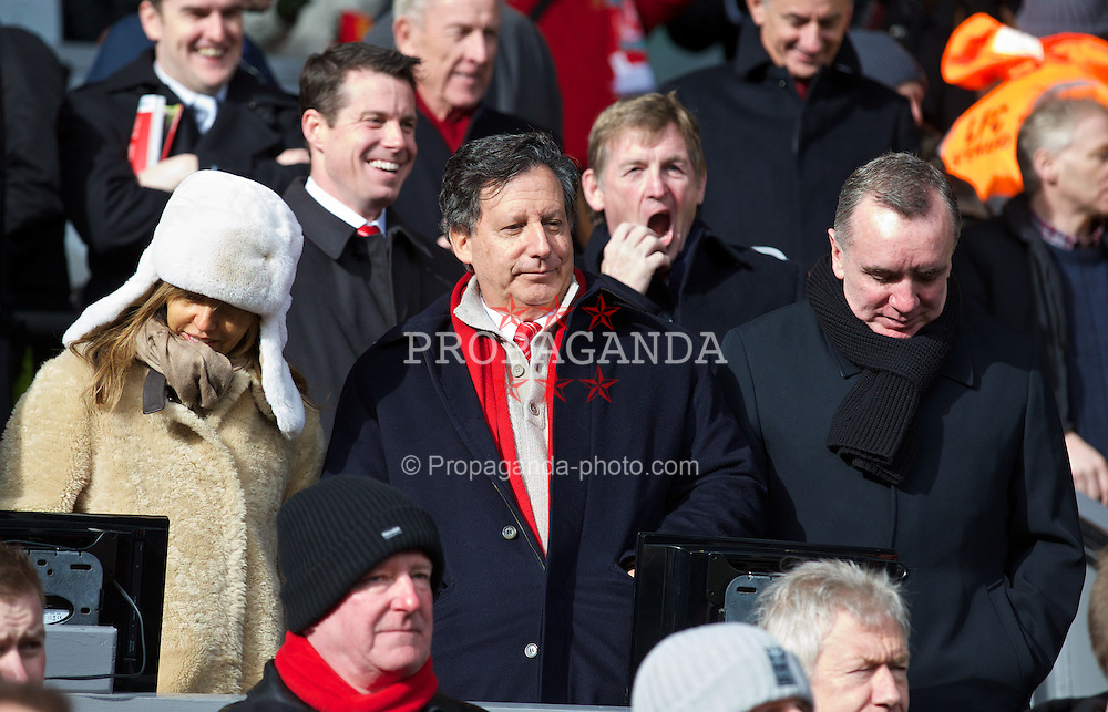 LIVERPOOL, ENGLAND - Saturday, February 8, 2014: Liverpool's co-owner and NESV Chairman Tom Werner during the Premiership match against Arsenal at Anfield. (Pic by David Rawcliffe/Propaganda)