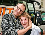 Tour guides make all the difference between a successful trip and one that's not. Hugs here for an excellent tour guide during Madison Diocesan Choir tour of Germany in 2007. Choir member Mary Ann Kloppedal was among many expressing their gratitude. Photo taken June 22, 2007.