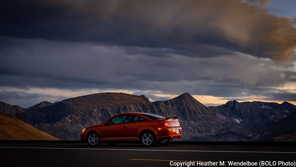 September 17, 2018<br /> Trail Ridge Road<br /> Rocky Mountain National Park, Colorado<br /> (2007 Pontiac G5 GT: Heather Wendelboe)