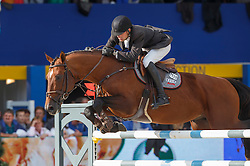 Biessen Ivo (NED) - Contento<br /> Final 7 years<br /> FEI World Breeding Jumping Championships for Young Horses - Lanaken 2014<br /> © Dirk Caremans