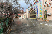 A general view shows the inside garden the Blue Mosque, which is the 18th-century Shia mosque in Yerevan, Armenia on Friday, Jan 15, 2021. This building was commissioned by Huseyn Ali Khan, the khan of Erivan and it is one of the oldest extant structures in central Yerevan and the most significant structure from the city's Iranian period. (Photo/ Vudi Xhymshiti)