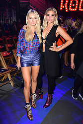 Lottie Moss (left) during the Tommy Hilfiger Front row during London Fashion Week SS18 held at Roundhouse, Chalk Farm Rd, London. Picture Date: Tuesday 19 September. Photo credit should read: Ian West/PA Wire