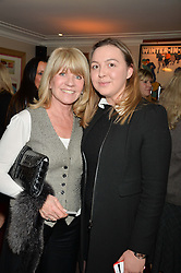 Left to right, INGRID SEWARD and ZENOUSKA MOWATT granddaughter of Princess Alexandra at a party hosted by Lady Kinvara Balfour, Lavinia Brennan and Lady Natasha Rufus Isaacs to celebrate the Beulah French Sole Collaboration in aid of the UN Blue Heart Campaign, held at George, 87-88 Mount Street, London on 10th December 2013.