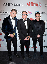 (c) Alan Carr attends the Attitude Pride Awards 2016 at The Grand At Trafalgar Square, central London. Monday October 10, 2016. Photo credit should read: Isabel Infantes / EMPICS Entertainment.