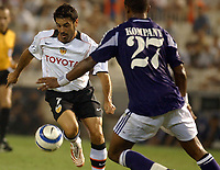 Fotball<br /> Champions League 2004/05<br /> Valencia v Anderlecht<br /> Mestalla<br /> 14. september 2004<br /> Foto: Digitalsport<br /> NORWAY ONLY<br /> Stefano Fiore