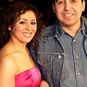 NLD/Den Haag/20120206 - Premiere Als je Verliefd Word, Mimoun Ouled Radi en actrice Jihane El Fahidi
