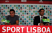20090630: LISBON, PORTUGAL - Argentine star Javier Saviola presented in SL Benfica. The former Barcelona and Real Madrid striker signed a three year contract. In picture: Javier Saviola and Rui Costa (Benfica Sport Director). PHOTO: Pedro Evangelista/CITYFILES