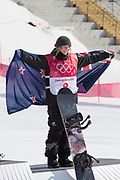 Zoi Sadowski Synnott, New Zealand, BRONZE, during the womens snowboard big air flower ceremony at the Pyeongchang 2018 Winter Olympics on 22nd February 2018, at the Alpensia Ski Jumping Centre in Pyeongchang-gun, South Korea