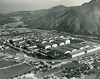 1939 Aerial photo of Warner Bros. Studios in Burbank