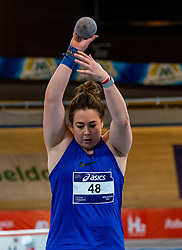 Melissa Boekelman in action on shot put during limit matches to be held simultaneously with the Dutch Athletics Championships on 13 February 2021 in Apeldoorn