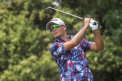 May 26, 2018 - Fort Worth, TX, U.S. - FORT WORTH, TX - MAY 26: Tyrone Van Aswegen (USA) hits from the 9th tee during the third round of the Fort Worth Invitational on May 26, 2018 at Colonial Country Club in Fort Worth, TX. (Photo by George Walker/Icon Sportswire) (Credit Image: © George Walker/Icon SMI via ZUMA Press)