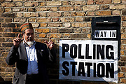 Predominantly Muslim voters, and supporters at a Polling Station in Whitechapel, in the East End of London. General Election Day May 6th 2010.