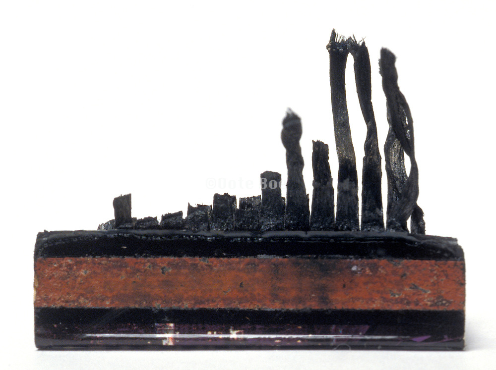 remains of charred matchbook