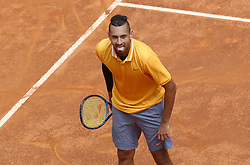 May 14, 2019 - Rome, Italy - Nick Kyrgios (AUS) during the ATP Internazionali d'Italia BNL first round match at Foro Italico in Rome, Italy on May 14, 2019. (Credit Image: © Matteo Ciambelli/NurPhoto via ZUMA Press)