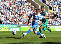 © Andrew Fosker / Richard Lane Photography 2010 - Shane Long nails Reading's fifth goal of the game - Charlie Lee is right -  Reading v Peterborough - Coca-Cola Championship - 17/04/2010 - Madejski Stadium - Reading - UK.