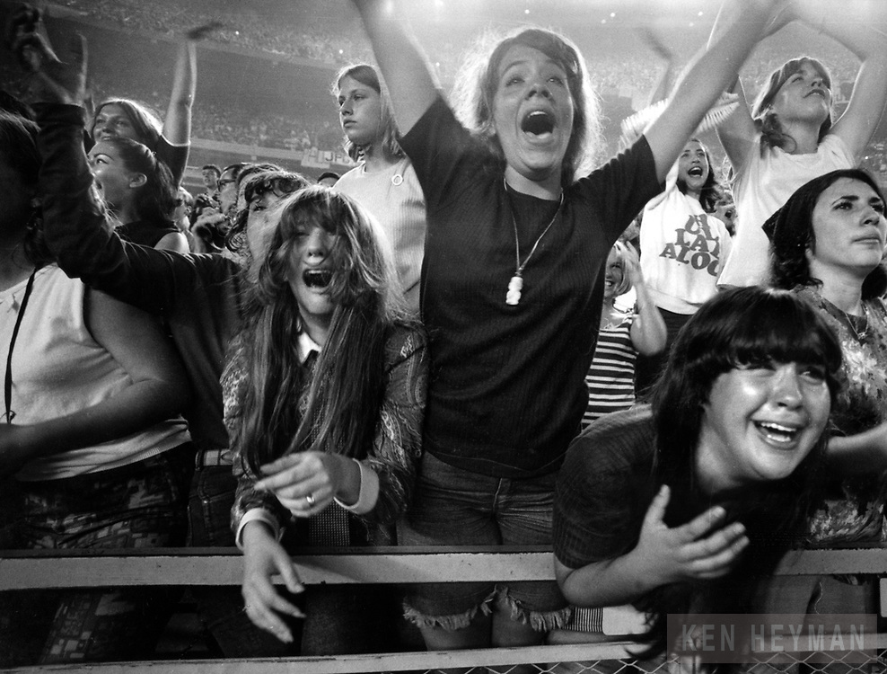 Fans screaming at the last Beatles concert.