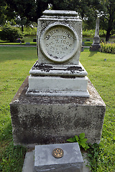 31 August 2017:   Veterans graves in Dawson Cemetery in eastern McLean County.<br /> <br /> James Wirt  Died Oct 7 1868  War of 1812