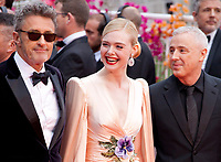 Jury members Pawel Pawlikowski, Elle Fanning and Robin Campillo at the Opening Ceremony and The Dead Don't Die gala screening at the 72nd Cannes Film Festival Tuesday 14th May 2019, Cannes, France. Photo credit: Doreen Kennedy