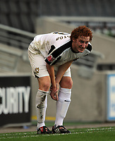 Milton Keynes Dons/Walsall Coca Cola League one  10.10.09 <br /> Photo: Tim Parker Fotosports International<br /> MK Dons captain Dean Lewington has to retire from the game with an elbow injury