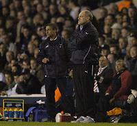 Photo: Olly Greenwood.<br />Tottenham Hotspur v FC Braga. UEFA Cup. 14/03/2007. Tottenham manager Martin Jol and Chris Hughton