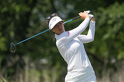 May 6, 2018 - The Colony, TX, U.S. - THE COLONY, TX - MAY 06: Sandra Gal (GER) hits from the 4th tee during the Volunteers of America LPGA Texas Classic on May 6, 2018 at the Old American Golf Club in The Colony, TX. (Photo by George Walker/Icon Sportswire) (Credit Image: © George Walker/Icon SMI via ZUMA Press)