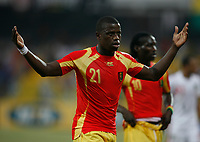 Photo: Steve Bond/Richard Lane Photography.<br />Guinea v Morocco. Africa Cup of Nations. 24/01/2008. Daouda Jabi of Guinea celebrates victory
