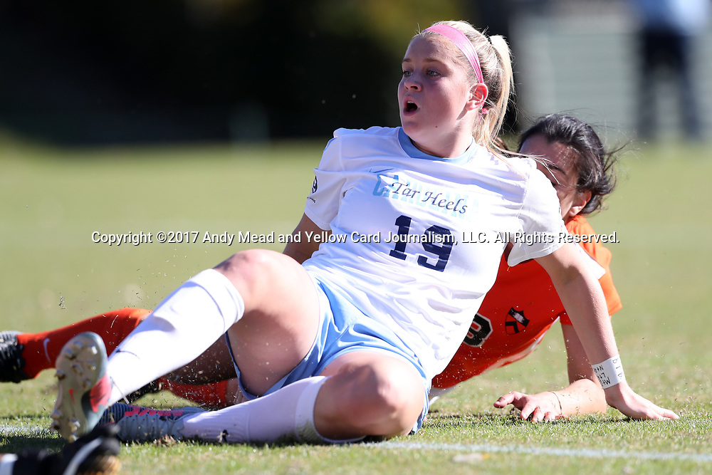 CARY, NC - NOVEMBER 19: North Carolina's Alessia Russo (ENG). The University of North Carolina Tar Heels hosted the Princeton University Tigers on November 19, 2017 at Koka Booth Stadium in Cary, NC in an NCAA Division I Women's Soccer Tournament Third Round game. Princeton won 2-1 in sudden death overtime.
