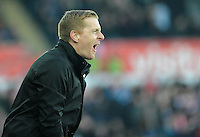 Swansea City manager Garry Monk  in action during todays match  <br /> <br /> Photographer Ashley Crowden/CameraSport<br /> <br /> Football - Barclays Premiership - Swansea City v Sunderland - Saturday 7th February 2015 - Liberty Stadium - Swansea<br /> <br /> © CameraSport - 43 Linden Ave. Countesthorpe. Leicester. England. LE8 5PG - Tel: +44 (0) 116 277 4147 - admin@camerasport.com - www.camerasport.com