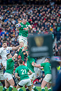 Twickenham, England, 23rd February, Peter O'MALONY, collects and redistributes the ball, Guinness Six Nations, International Rugby,  during then England vs Ireland, RFU Stadium, United Kingdom, [Mandatory Credit; Peter SPURRIER/Intersport Images]