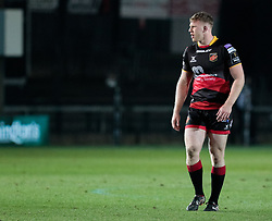 Dragons' Jack Dixon<br /> <br /> Photographer Simon King/Replay Images<br /> <br /> Guinness Pro14 Round 10 - Dragons v Ulster - Friday 1st December 2017 - Rodney Parade - Newport<br /> <br /> World Copyright © 2017 Replay Images. All rights reserved. info@replayimages.co.uk - www.replayimages.co.uk