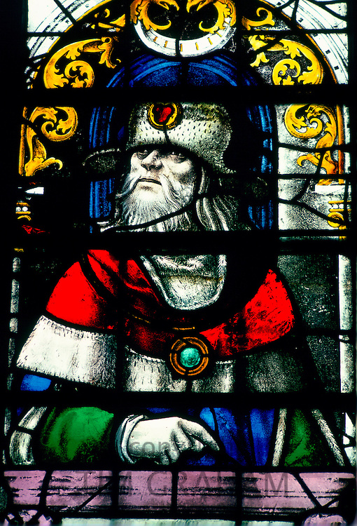 Stained-glass window, King's College Chapel, Cambridge