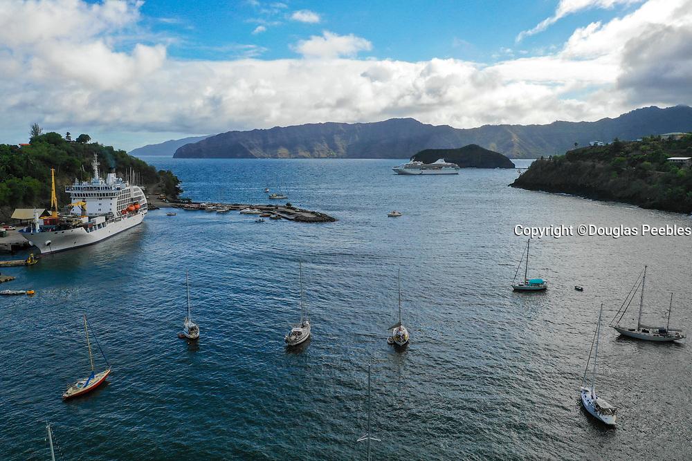 Aranui 5, Cruise ship, Atuona, Hiva Oa, Marquesas, French Polynesia, South Pacific