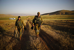April 4, 2017 - Jordan Valley, Israel - Israeli infantry soldiers from the Haruv battalion of the Kfir Brigade are on their way to a counterterrorism drill that takes place in open fields close to the Kfir Brigade base in the Jordan Valley, West Bank, Israel, on April 05, 2017. (Credit Image: © Corinna Kern/NurPhoto via ZUMA Press)