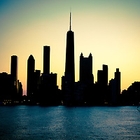 Sunset Silhouette ... Chicago's Skyline