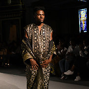 Ethnic Revival showcases it latest collection at the Africa Fashion Week London (AFWL) at Freemasons' Hall on 11 August 2018, London, UK.