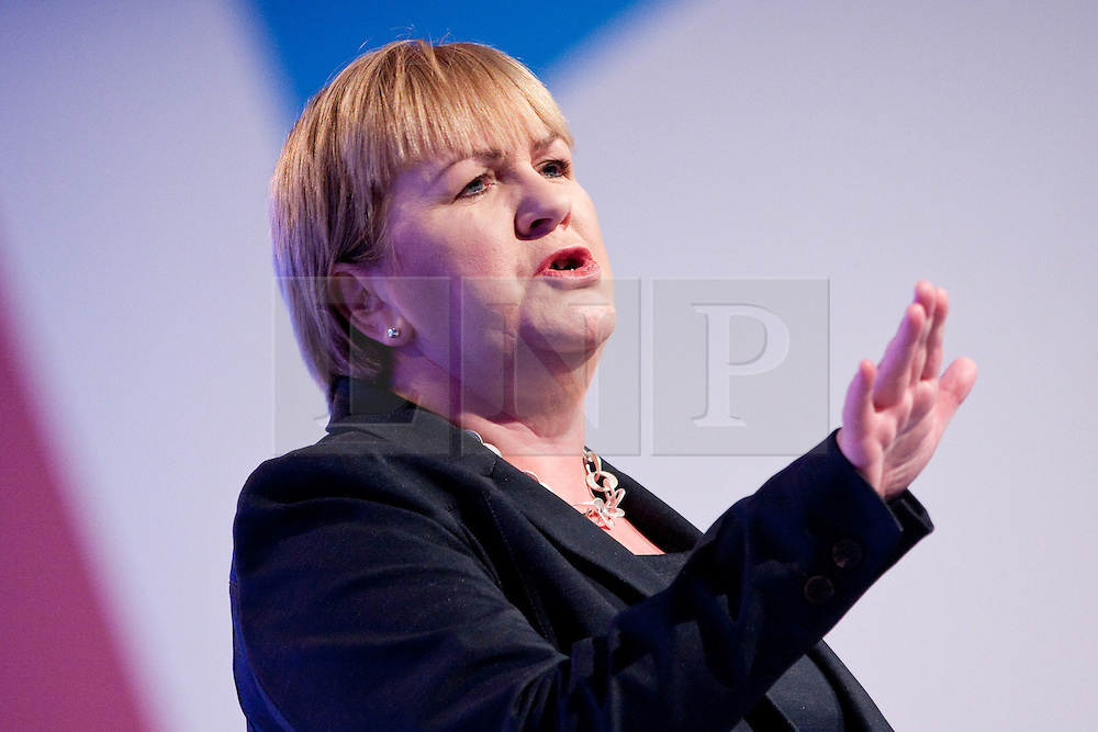 © Licensed to London News Pictures. 02/10/2012. Manchester, UK . Johann Lamont of Scottish Labour speaks during the Scottish Report session . Labour Party Conference Day 3 at Manchester Central . Photo credit : Joel Goodman/LNP