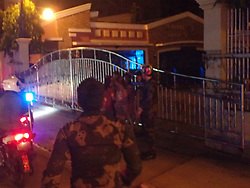 June 19, 2017 - Iligan City, Philippines - During the Martial Law implementation in Iligan City in Mindanao, police vehicles roving around the city, policemen go to house to house and search every small alley and people who are still on the streets from 9pm to 4am the next day are brought to Iligan Police Station 5 and they are to ask questions and valid identification card. Violators were reprimanded of 300 pesos ($6) and 4 hours of community service. (Credit Image: © Sherbien Dacalanio/Pacific Press via ZUMA Wire)