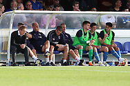 AFC Wimbledon manager Neal Ardley looking onto the pitch during the EFL Sky Bet League 1 match between AFC Wimbledon and Scunthorpe United at the Cherry Red Records Stadium, Kingston, England on 15 September 2018.
