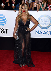 Annie Ilonzeh at the 49th NAACP Image Awards held at the Pasadena Civic Auditorium on January 15, 2018 in Pasadena, CA ©TArroyo/AFF-USA.com. 15 Jan 2018 Pictured: Laverne Cox. Photo credit: MEGA TheMegaAgency.com +1 888 505 6342