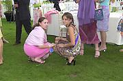 Spirit de la Mare and Saskia Boxford.    Cartier International Polo 2000. Smiths Lawn.  31/7/00<br />© Copyright Photograph by Dafydd Jones 66 Stockwell Park Rd. London SW9 0DA Tel 020 7733 0108 www.dafjones.com
