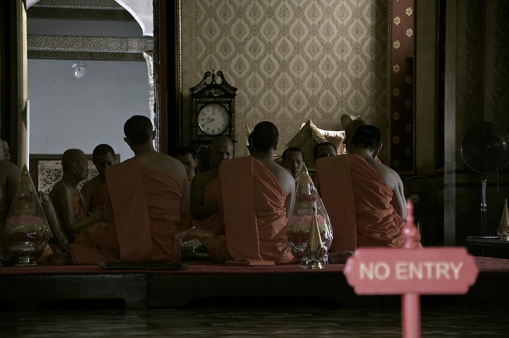 Monks at morning prayer.