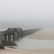 Barmouth Bridge, opened in 1867 it is one of the longest timber viaducts still in regular use in Britain, Gwynedd.