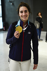 February 15, 2018 - Paris, France, France - Retour de Perrine Laffont - championne Olympique  Ski de bosses aux JO de Pyeongchang (Credit Image: © Panoramic via ZUMA Press)